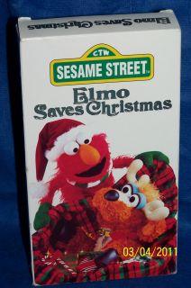 Sesame Street   Elmo Saves Christmas (VHS, 1996)