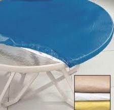 2X Miles Kimball Elasticized Round Patio Table Cover Tan 48 311434