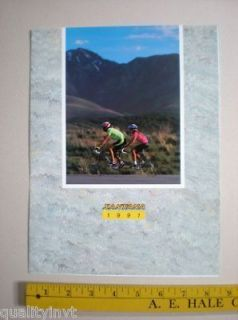 Santana Cycling Tandem Bicycle Bike 3 fold Catalog 1991 Vintage Ad