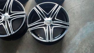 16 Elbrus I06 Set Black Wheels Mercedes Audi 5x112 45mm