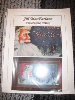 Jill MacFarlane Santa Decorative Painting Pattern and Instructions