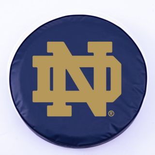 Notre Dame Fighting Irish ND Logo Navy Vinyl Spare Tire Cover