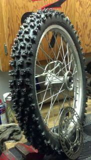 Motorcycle ice tire, ice racing, ice race, studded tire, flat track