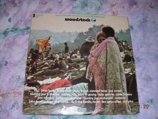 LP Vinyl Album Various Artists Woodstock Jimi Hendrix