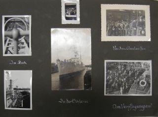 WW2 PHOTO ALBUM from 1936 GERMAN NAVY SHIP KREUZER EMDEN WORLD CRUISE