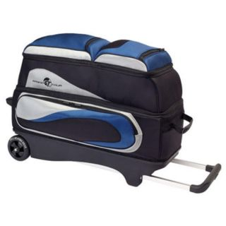 Ebonite Grand Tour 3 Ball Bowling Roller Bag Color Blue
