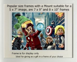Lego Picture Iron Man Captain America Super Heroes Hero
