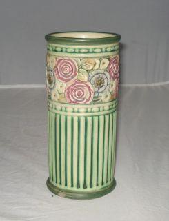 Weller Pottery Cylinder Vase Zona Chelsea Eldora Pattern