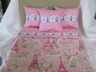 Piece Fits American Girl Doll Bedding Paris Bedspread Top sheet