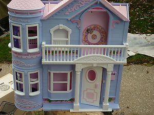 1995 Barbie Victorian Dream House with Working Elevator