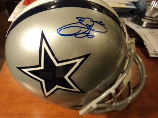 EMMITT SMITH    SIGNED FULL SIZE F/S HELMET   DALLAS COWBOYS   PSA