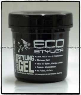 ECO STYLER SUPER PROTEIN HAIR STYLING GEL ALCOHOL FREE MAXIMUM HOLD