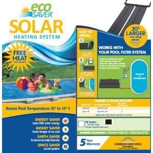 Eco Saver 20 Foot Solar Heating Panel System Above Ground Pool Warm