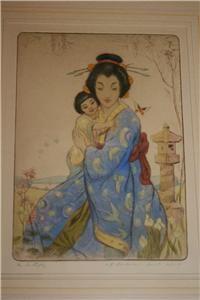 Robert Herdman Smith British Art Etching Japonist Madame Butterfly