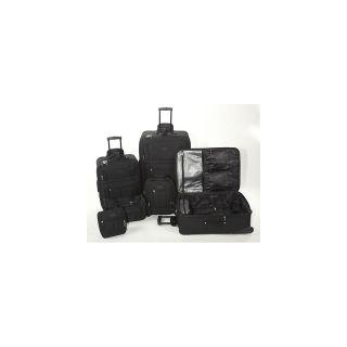 Geoffrey Beene 6 piece Luggage Set   Black