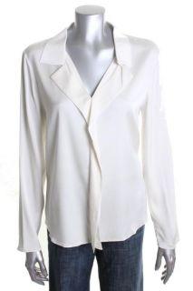 Elie Tahari New Ivory Silk Long Sleeves Blouse Top L BHFO
