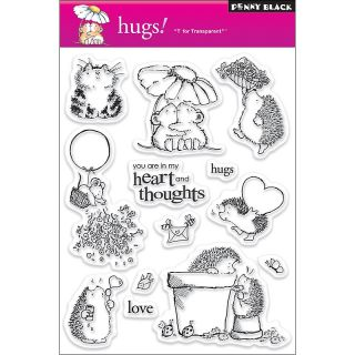 108 7972 scrapbooking penny black clear stamps sheet hugs rating 1 $
