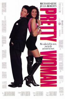 Pretty Woman Movie Promo Poster B 1990 Richard Gere Julia Roberts