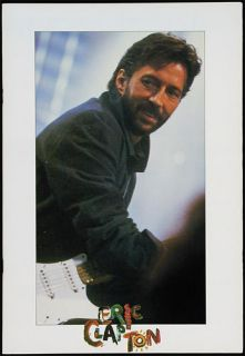 Eric Clapton Behind The Sun Tour 1985 Program