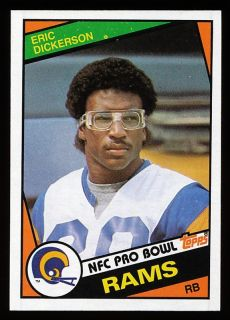 1984 Topps Eric Dickerson Los Angeles Rams Rookie RC 280
