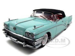 1958 Buick Limited Closed Convt Green 1 18 Platinum Ed