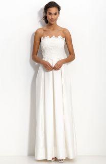 NEW ELIZA J Strapless Lace & Shantung DRESS GOWN SIZE 14 WEDDING