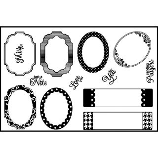Scrapbooking Spellbinders Matching Clear Stamps   Tag Accents