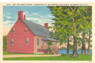Old Brick House Elizabeth City Vintage Postcard
