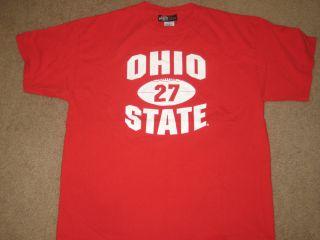 Eddie George OSU t shirt jersey Ohio State University Buckeyes tee