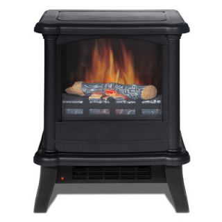 Quality Craft Decorflame Electric Stove Heater Fireplace Matte Black