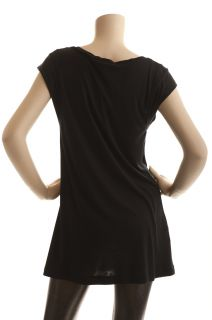 BCBG Max Azria Black Basic Tee Tunic New Size L