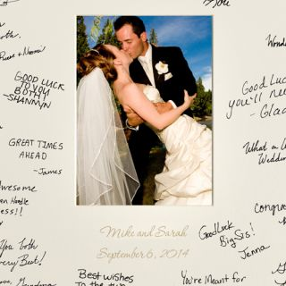 Wedding with Lazer Etching Personalized Signature Picture Frame for