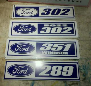 Ford Engine Number Signs 302 Boss 302 351 Windsor 289