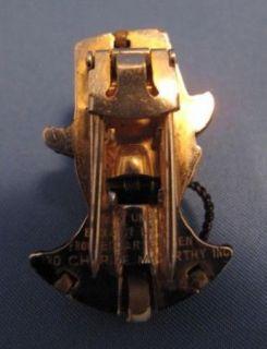 Vintage Charlie McCarthy Edgar Bergen Enamel Pin Clip Signed