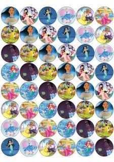 48 Disney Princess Edible Cupcake Toppers Rice Paper