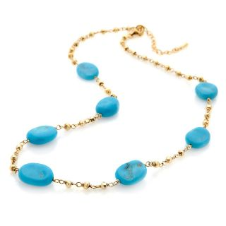 Heritage Gems Sleeping Beauty Turquoise Vermeil 16 Bead Necklace