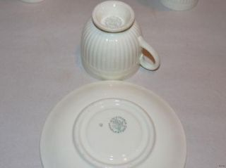 Pair Vintage Wedgwood Edme Double Egg Cup Demitassel Set Etruria