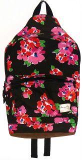 Aeropostale Backpack   Book bag Flower Floral Chocolate Brown Pink New
