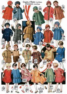 Montgomery Ward Fashions of Twenties 1927 28 Pre Depression Children