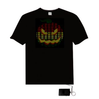 Fashion Music Sound Activated Up and Down Pumpkin Pattern Light El T