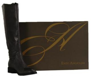 Enzo Angiolini New Gray Leather Fashion Knee High Boots US Size 7