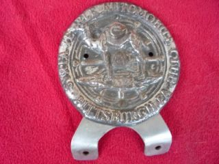 Vintage Syria Temple Automobile Club License Plate Topper Pittsburgh