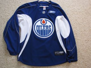 Edmonton Oilers Game Worn Used Practice Jersey Reebok RBK Meigrey