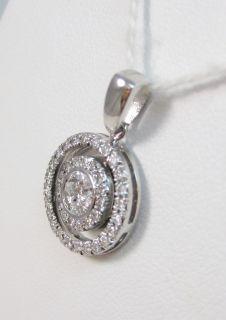 Elma Gil Designer 67 G vs Diamond 18K White Gold Pendant