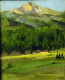 Original Plein air oil painting in Estes Park by Patricia Kness
