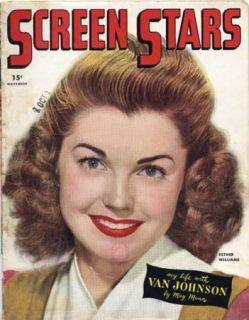SREEN STARS movie magazine 1945 ESTHER WILLIAMS (h670)
