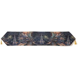 Thomas Kinkade Thomas Kinkade Table Runner   Christmas Evening