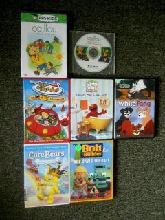 Childrens 7 DVD Lot Caillou Elmo Bob the Builder Little Einsteins More