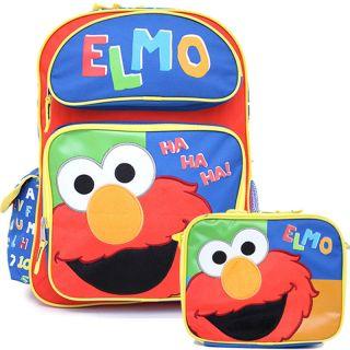 Street Elmo School 16 Large Backpack Lunch Bag Set Ha Ha