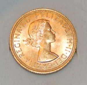 1968 Full Sovereign Elizabeth II British Gold Coin MS++